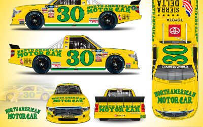 Danny Bohn and OnPoint Motorsports honor Michael Waltrip for Darlington Throwback weekend.